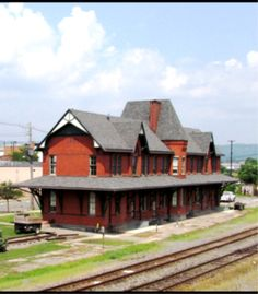 SAYRE PA USA - restored Lehigh Valley Railroad station - Victorian Style architecture  OL - edited