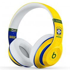 Beats Studio 2.0 Brazil Yellow White Headphones | Monster Beats by Dre Studio with Built-In Remote - MonHiFi Online Store