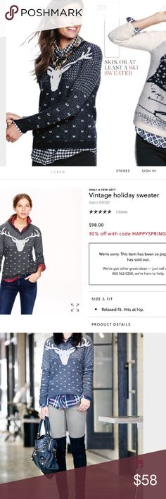 J.crew vintage holiday sweater Excellent condition J. Crew Sweaters