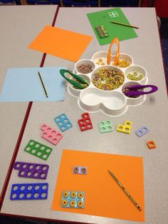 Using wheat hoops to fill in the Numicon spaces- helps support understanding of conservation of number. (Please be aware may cause an allergic reaction for those with nut allergies) Early Years Maths, Early Years Classroom, Early Math, Early Learning, Maths Eyfs, Eyfs Classroom, Preschool Activities, Counting Activities, Numicon Activities