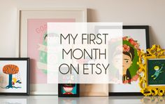My first month on etsy experience