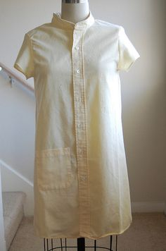 Women's shirtdress out of men's shirt tutorial