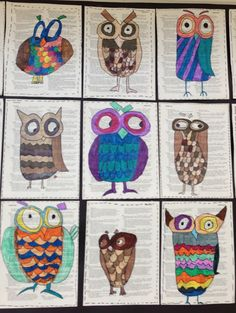 I love this owl art project too! Very cute!