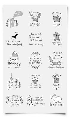 Custom Christmas Stamp Personalized Rubber Stamp Holidays