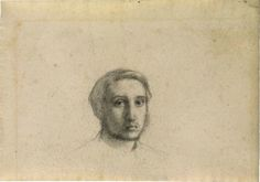 The Morgan Library & Museum Online Exhibitions - Degas: Drawings and Sketchbook - Edgar Degas - Self-Portrait Degas Drawings, Art Drawings, Gouache, Portraits, Edgar Degas, Pastel, French Artists, Graphic Art, Fine Art
