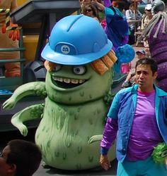 Disney World Retired Attractions - Monsters, Inc. characters in the Block Party Bash Parade at Disney's Hollywood Studios. This parade ran from March 14, 2008 – January 1, 2011.