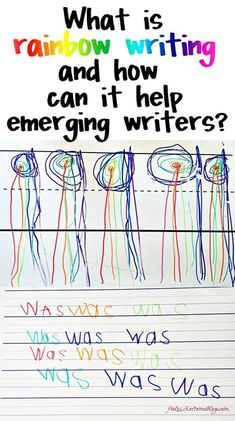 This simple rainbow writing activity can be used for emerging writers and spellers in preschool, kindergarten, first or second grade or even higher. It is simple and easy for sight words practice or even handwriting and letters of the alphabet practice. Can be used to learn how to spell their name or for spelling words. Kids love learning this way in the classroom or in homeschooling. #howtohomeschool #homeschooling #unschooling #homeschooltips Kindergarten Writing, Kindergarten Literacy, Teaching Writing, Preschool Activities, Teaching Biology, Sight Word Practice, Sight Words, Pre Writing, Writing Skills