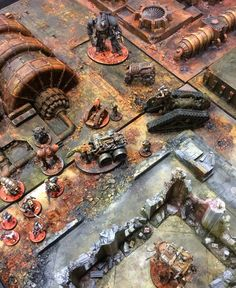 Stunning tabletop and miniatures designed and painted by none other than John Blanche!