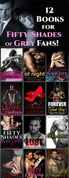12 Books for Fifty Shades of Grey Fans! #romance #romancebooks #romancebook #romanceebook #book #ebook #booklover