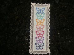 butterfly -- this is an item that was for sale on Etsy -- enlarge the picture; easy to count the stitches and create your own pattern from it