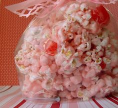 Stay At Home Mom Plans: Cinnamon Bear Popcorn Sweet Popcorn, Popcorn Snacks, Candy Popcorn, Popcorn Balls, Popcorn Recipes, Cinnamon Popcorn, Cinnamon Bears, Yummy Treats, Delicious Desserts