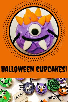 Halloween Cupcakes: These not-so-scary treats are so much fun to make with the…
