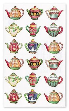 Punch Studio [Christmas] sticker seal (teapot) 39822R Punch Studio Painting For Kids, Drawing For Kids, Coffee Cup Drawing, Tea Cup Art, Tea Cups, Tea Illustration, Mary Engelbreit, Christmas Drawing, Quilling Patterns