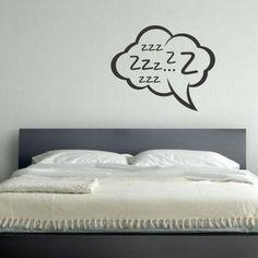 """Adesivo Murale - Dormiglione.  Adesivo murale di alta qualità con pellicola opaca di facile installazione. Lo sticker si può applicare su qualsiasi superficie liscia: muro, vetro, legno e plastica.  L'adesivo murale """"Dormiglione"""" è ideale per decorare la camera da letto. Adesivi Murali."""