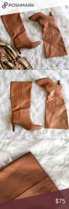BANANA REPUBLIC Camel Colored Boots The perfect fall boot in a beautiful camel color. In a AMAZING pre-opened condition!! There a is waterspot, refer to pics for reference. Banana Republic Shoes Heeled Boots