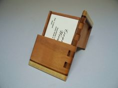 Hinged card holder
