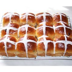 Hot Cross Buns - I haven't made these for a few years, but this was the recipe I used.  Glad I found it again!