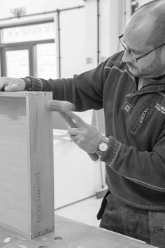 Created and assembled in our workshop, each of our cabinet drawers are handmade with dovetail joints www.benchwoodkitchens.co.uk
