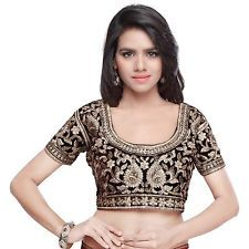Readymade Blouse For Indian Ethnic Bollywood Partywear Saree Choli Top 3456 B