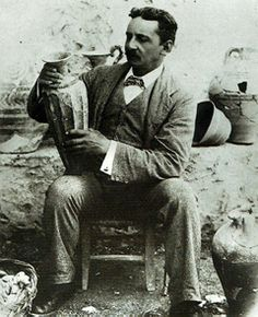 Sir Arthur Evans. Uncovered The Palace at Knossos and tablets and tablets of Linear A and B (mostly B)