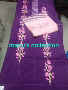 Embroidery Suits Punjabi, Embroidery Suits Design, Embroidery Designs, Fabric Paint Shirt, Fabric Painting, Hand Painted Fabric, Painted Silk, Punjabi Suits, Salwar Suits