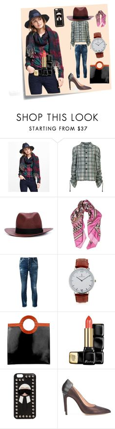"""Plaid Shirt Fashion..**"" by yagna ❤ liked on Polyvore featuring Post-It, Brooks Brothers, Maison Margiela, rag & bone, Roberto Cavalli, Dsquared2, Kapten & Son, Givenchy, Guerlain and Fendi"
