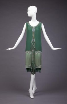 Ephemeral Elegance | Beaded and Embroidered Evening Dress, ca. 1925...