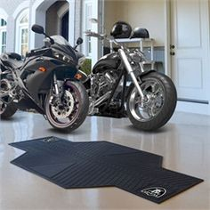 Oakland Raiders Motorcycle Mat Rubber Garage Rug