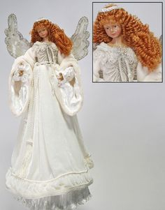 """Katherine's Collection Azure Ice Christmas Collection 21"""" Angel Bianca Christmas Tree Topper Free Ship"""
