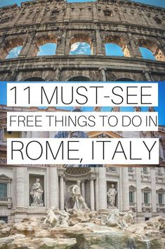Even if the city is a bit more expensive to visit, there are lots of fun and free things to do in Rome. And you can still visit some of these world-renowned landmarks without spending a dime on it. 11 FREE THINGS TO DO IN ROME, ITALY Eurotrip, Italy Travel Tips, Rome Travel, Travel Europe, Travel Guide, Cruise Travel, Traveling To Italy Tips, Usa Travel, Budget Travel