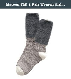 Matoen(TM) 1 Pair Women Girl Cotton Boot Cuffs Warmer Leg Stockings (Gray). ▶ Feature: ▶ 100% Brand New And High Quality ▶ Material:Cotton ▶ For adult ▶ Color:Black,Gray,Purple,Orange,Blue ▶ Item can keep warming, protect your legs ▶ It is very warm and the design is keep up with the fashion ▶ The necessary accessory for the winter season when you go outside ▶ Stocking leg Length:21cm(Flexible) ▶ Package Content: ▶ 1Pair Warmer Leg Stockings.