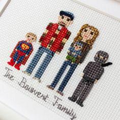 2 Adults And 3-5 Children. Custom Cross Stitch от RussianStitches