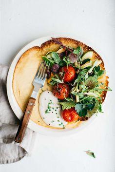 summer socca salad