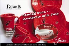 Look!!! New Dillard's Exclusive Ladybug Collection ~ available mid-July 2016