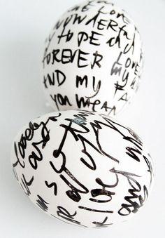 Handwritten Sharpie Easter Eggs