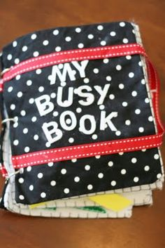 My favorite busy book I've seen! Will continue to want to make this, because God knows I never actually will!!!
