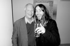 Larry Gagosian and Jared Leto