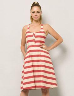 Divina Providencia red stripes dress