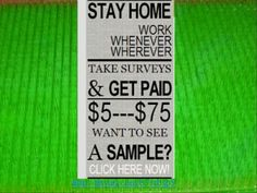 Paid Surveys at Home,Paid Surveys,Job Searching,Make Money Online With Paid Surveys,Free Cash,Only C