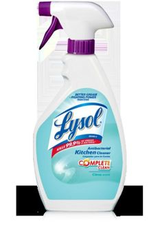 Lysol® Antibacterial Kitchen Cleaner cuts through grease to help clean kitchen messes. Diy Cleaning Products, Cleaning Hacks, Fruit Fly Killer, Off White Kitchens, Detergent Bottles, Helping Cleaning, Fruit Flies, Cleaners Homemade, Spring Cleaning