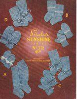 Sirdar 32 - sirdar sunshine baby bootees - vintage knitting pattern