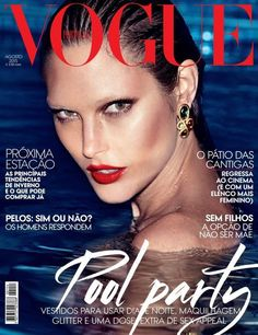 #VoguePortugal August 2015 Cover  | #CatherineMcNeil by #AlexiLubomirski