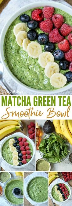 With a hint of matcha green tea, this satisfying Matcha Green Tea Smoothie Bowl is both good for you and delicious! #smoothies #smoothiebowls #smoothierecipes #healthysmoothies #healthyrecipes #healthyliving #healthylifestyle