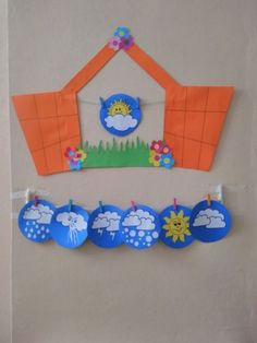 Weather Activities For Kids, Preschool Weather, School Age Activities, Preschool Activities, File Decoration Ideas, Class Decoration, Crafts For Kids, Arts And Crafts, Paper Crafts