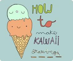 » The first lime «: How to make kawaii drawings... use in the poster