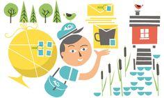 Summer illustration for Finnish Design Shop 2013.