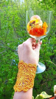 Crochet boho bracelet, handmade wide wristband, festival jewelry, silk lace, gift ideas for women, sophisticated,  hippie chic, cruise wear Lace Bracelet, Crochet Bracelet, Handmade Bracelets, Handmade Jewelry, Handmade Gifts, Bazaar Crafts, Fall Jewelry, Jewelry Shop, Unique Crochet