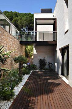terraza con diseño minimalista