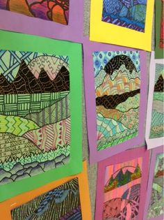 """With all the """"freeze"""" days last week, our Zentangle Landscapes became smaller to adjust for the time loss. The small composition has created..."""