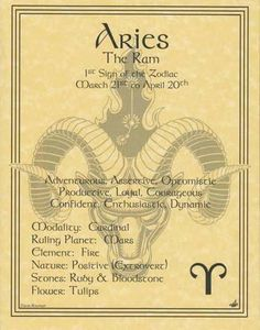 Aries (Zodiac) The Ram, Parchment Book of Shadows Page! pagan wicca witch for Like the Aries (Zodiac) The Ram, Parchment Book of Shadows Page! Le Zodiac, Zodiac Signs Aries, Aries Facts, Astrology Zodiac, Astrology Numerology, Zodiac Art, Astrology Signs, Sagittarius, Zodiac Signs Chart